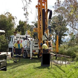 Drilling for water at a golf club in southern Tasmania