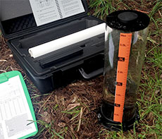 The Cromer Field Permeameter in use