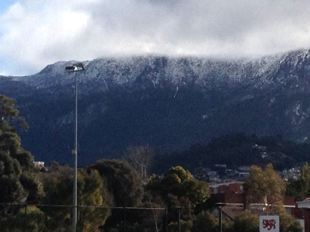 A new scar on Mt Wellington (photo taken August 24, 2015)